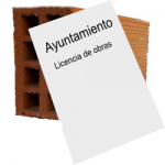 Licencia de obras con ladrillo
