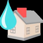 Casa y gota de agua