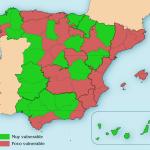Mapa de la España de 2 velocidades de recuperación económica