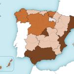 Mapa de España de ventas de viviendas en el 2º Trimestre 2015